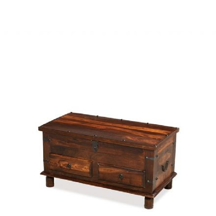Jali Sheesham Wood Thacket 2 Drawer Trunk